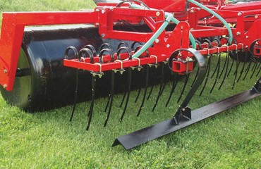 2 rows of harrow tines and leveling bar